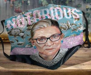 Notorious Rbg Ruth Bader Ginsburg Flowers Face Mask
