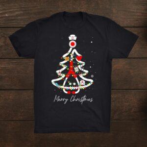 Nurse Christmas Tree Merry Christmas Shirt