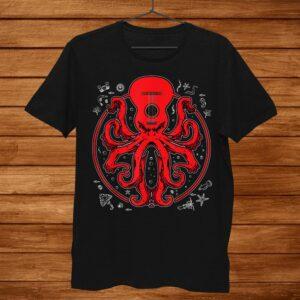 Octopus Guitar Tshirt Music Kraken Electric Bass Guitarist Shirt