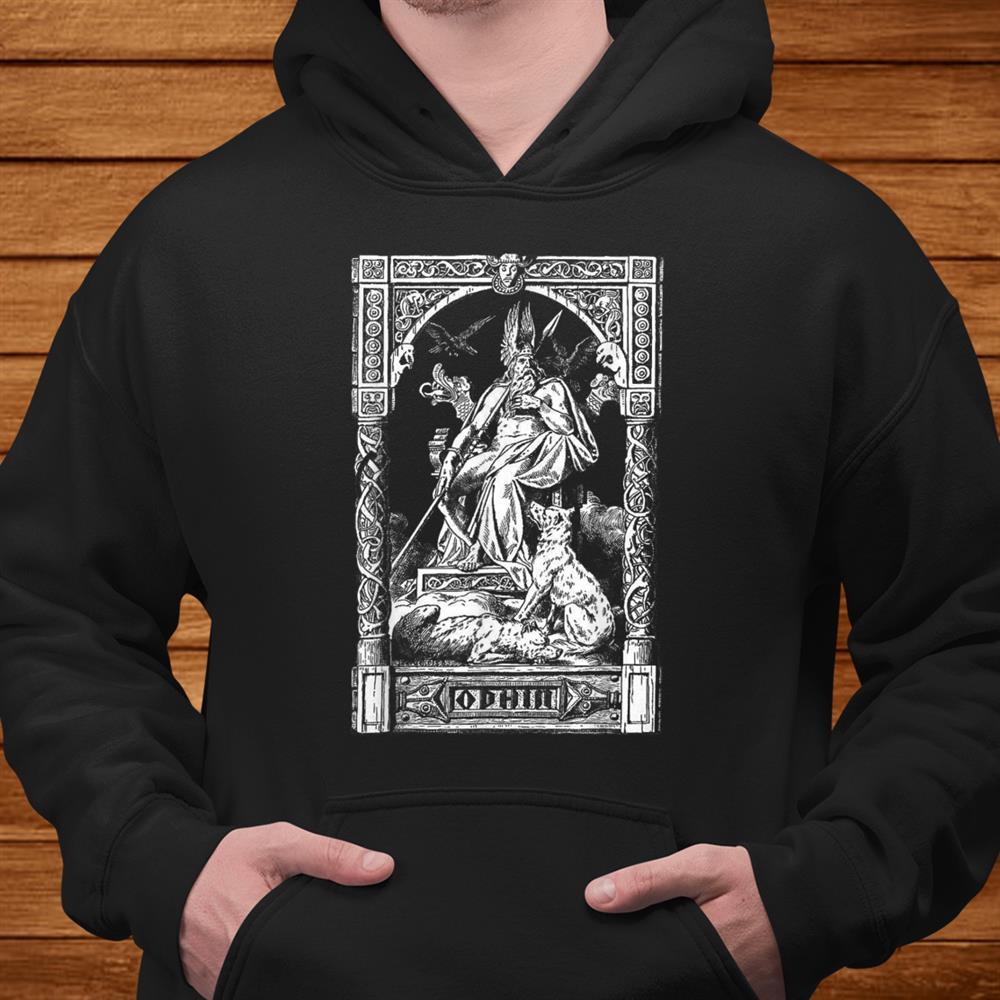 Odin On His Throne Norse Viking Mythology Allfather901 Men
