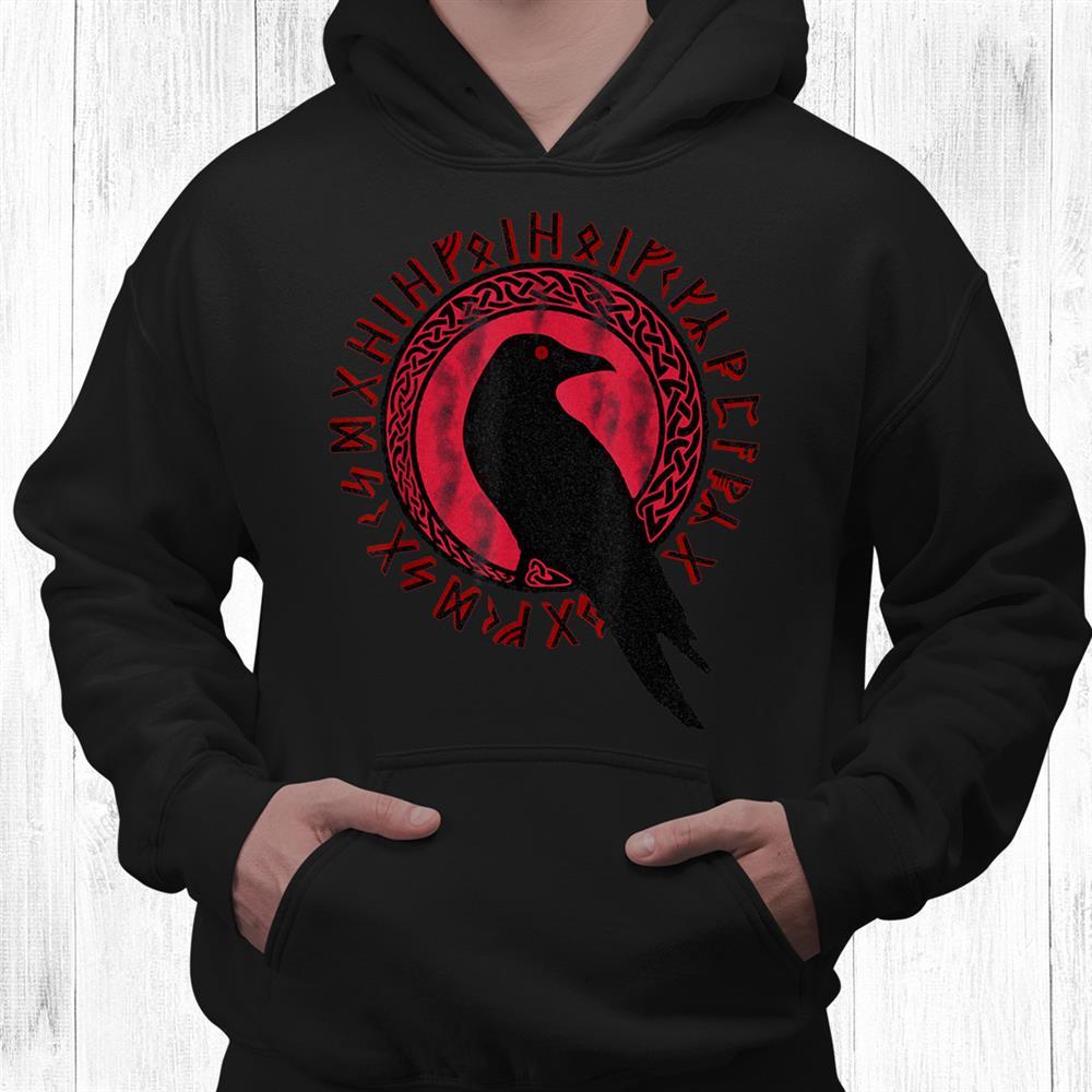 Odin Ravens Huginn Muninn Vegvisir Tshirt Vikings Myth Shirt