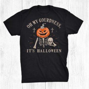 Oh My Gourdness Its Halloween Pumpkin Jack O Lantern Shirt