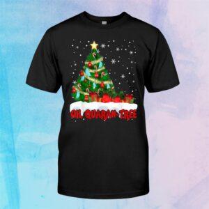 Oh Quaran Tree Funny Christmas Tree Merry Christmas Shirt