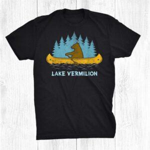 Oneida Lake Lake Bear Canoe Outdoor Hiking Camping Retro Shirt