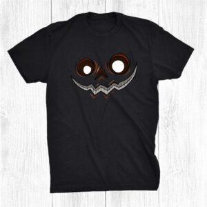 Orange Jack O Lantern Pumpkin Face Halloween Costume Shirt
