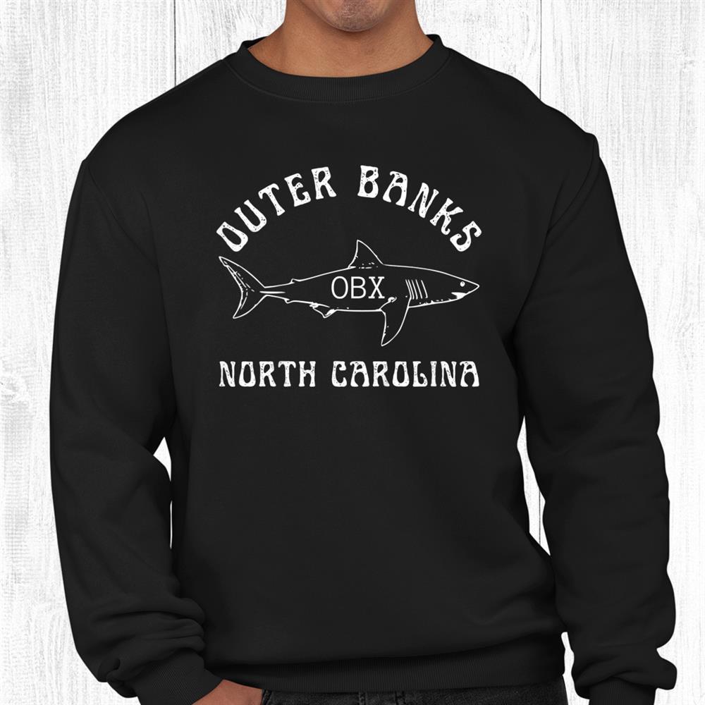 Outer Banks North Carolina Obx Shark Beach Fishing Ocean Shirt