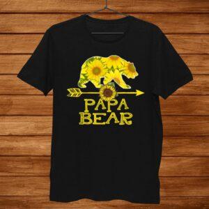Papa Bear Sunflower Shirt Funny Mother Father Shirt