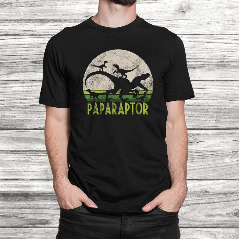 Paparaptor Papasaurus Dinosaur Dad Of Shirt