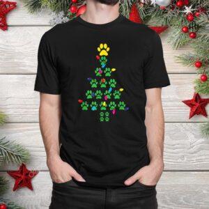 Paws Print Christmas Tree Dog Cat Shirt
