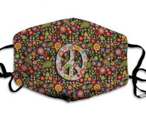 Peace Love Flower Face Mask