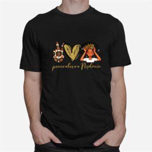 Peace Love Melanin Sugar Afro Black Brown Girls Pride Giftst Shirt