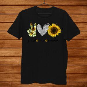 Peace Love Sunshine Sunflower Hippie Shirt