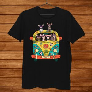 Peace Sign Hippie Van Chihuahua Lovers Gift Idea Shirt