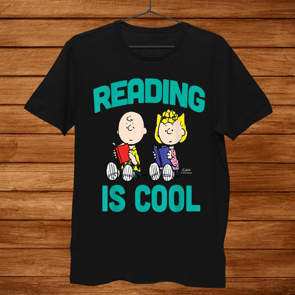 Peanuts Charlie And Sally Brown Reading Is Cool Shirt