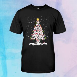 Ph Funny Cow Christmas Tree Pajama Matching Costume Shirt