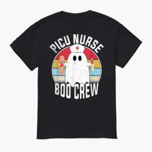 Picu Nurse Boo Crew Ghost Funny Retro Nursing Halloween Shirt