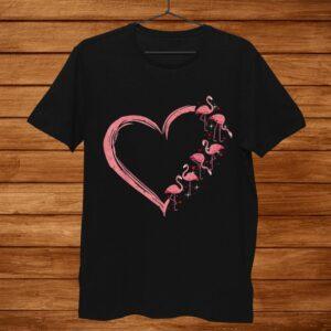 Pink Flamingo Heart Love Shirt Flamingo Lover Shirt