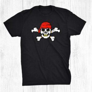 Pirate Skull Bandana Matching Trick Or Treat Halloween Shirt