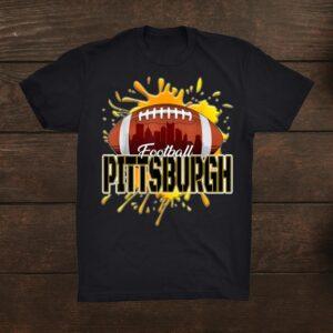 Pittsburgh Football Shirt Retro Vintage Pennsylvania Steeler Shirt