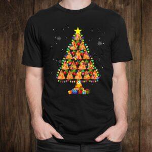 Pizza Christmas Tree Lights Lover Funny Xmas Shirt