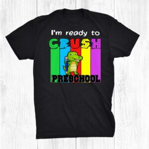 Preschool Dinosaur Rainbow Girls Boys Teacher Back To School Shirt