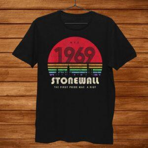 Pride Shirt0th Anniversary Stonewall969 Was A Riot Lgbtq Shirt