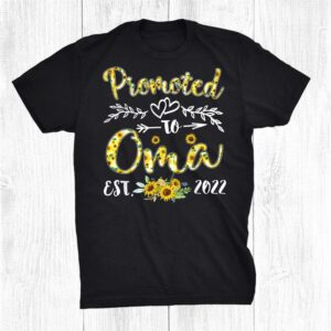 Promoted To Oma Est 2022 Women Sunflower First Time Grandma Shirt