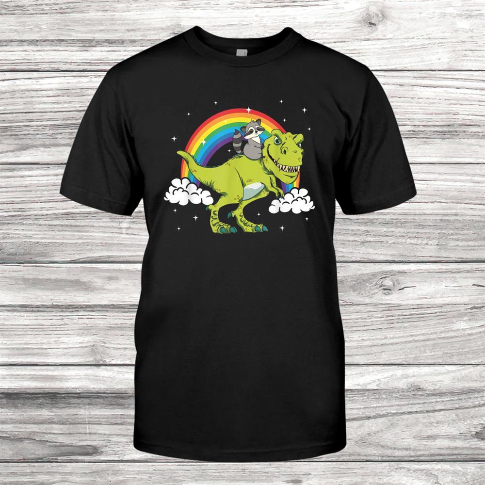 Raccoon Trash Panda Dinosaur T Rex Tyrannosaurus Shirt