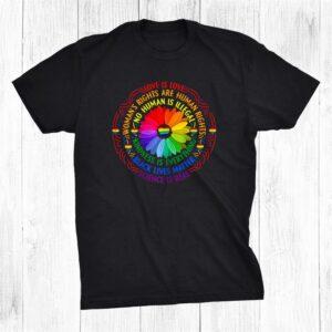 Rainbow Black Lives Matter Science Lgbt Pride Flower Shirt