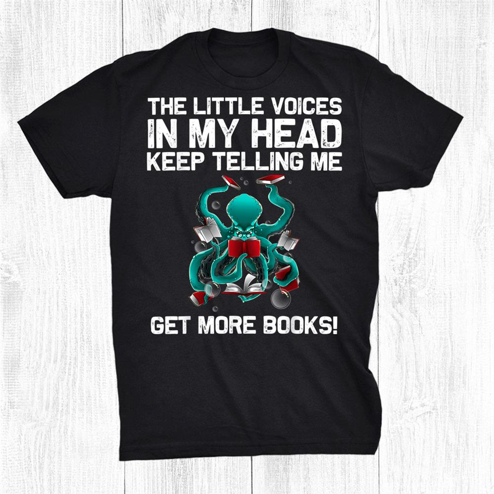 Reading Octopus Books Geek Read Learning Funny Shirt