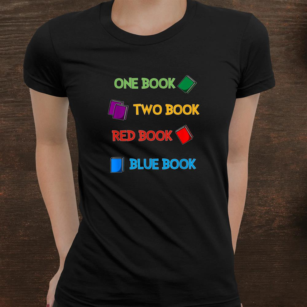 Reading Shirt One Book Two Book Red Book Blue Book