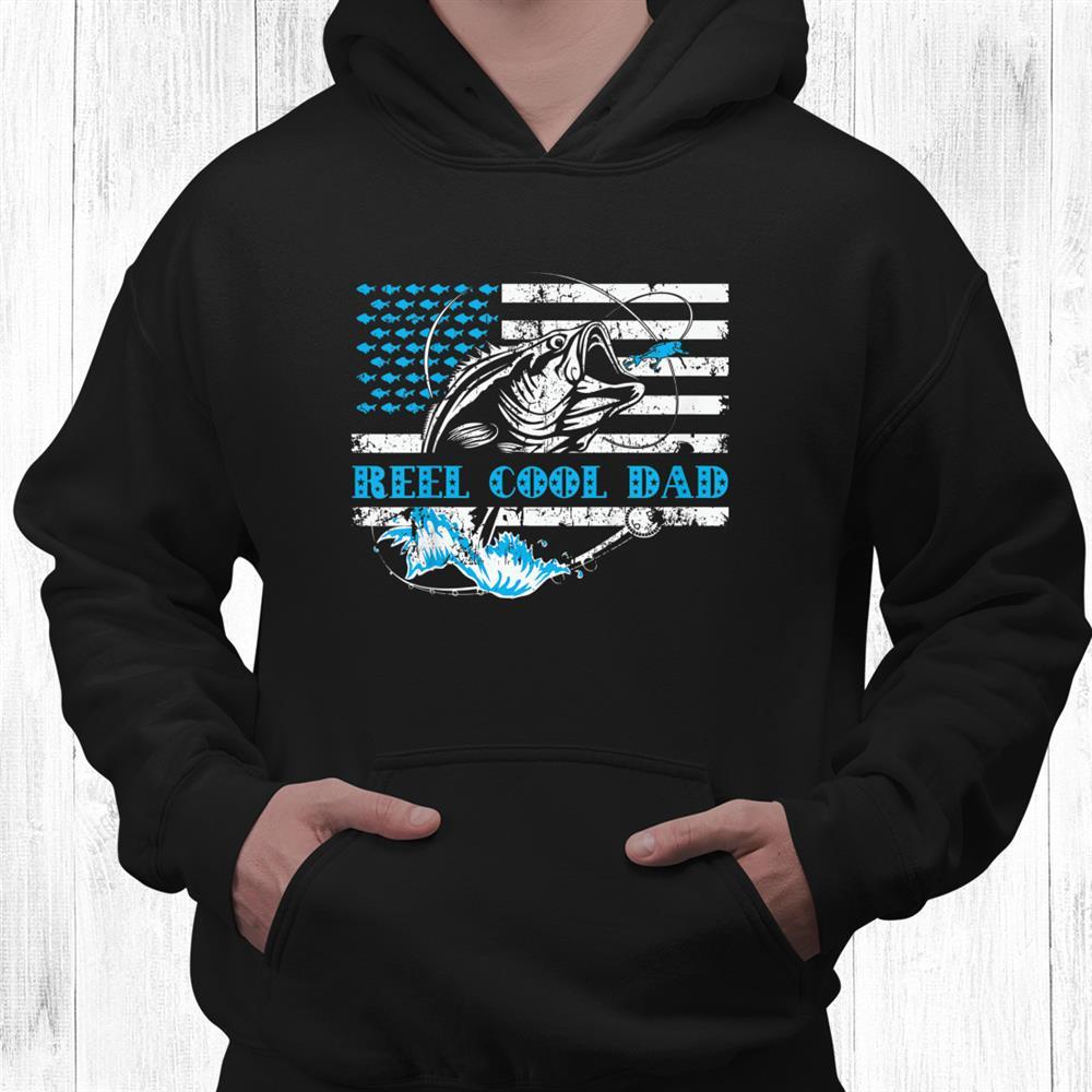 Reel Cool Dad American Flag Fishing Stuff Shirt