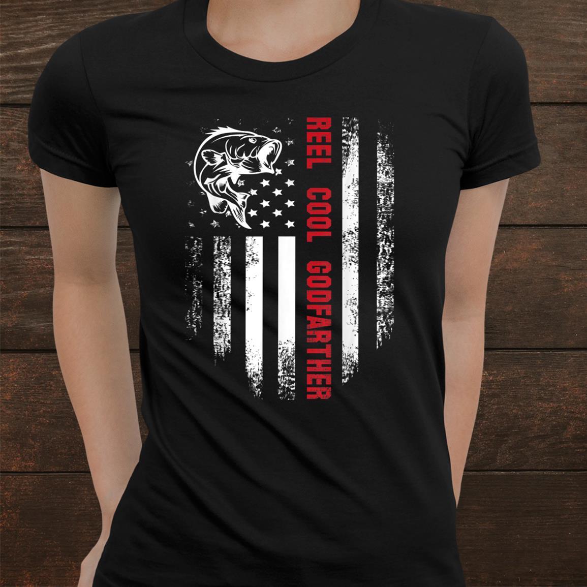 Reel Cool Godfather American Flag Fishing Shirt