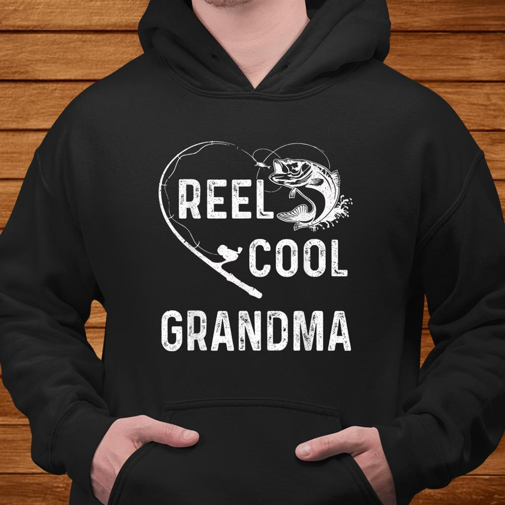 Reel Cool Grandma Shirt Fishing Lover Gift For Men