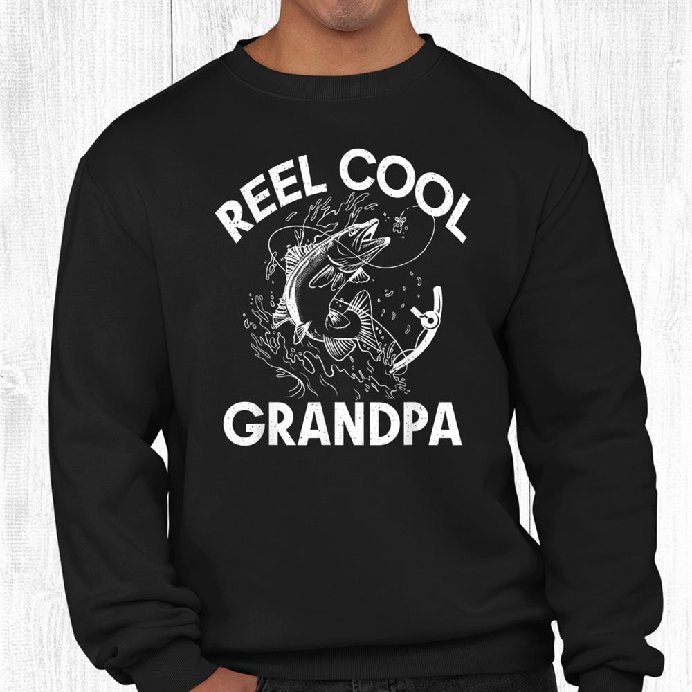Reel Cool Grandpa Angling Hunting Fishing Shirt