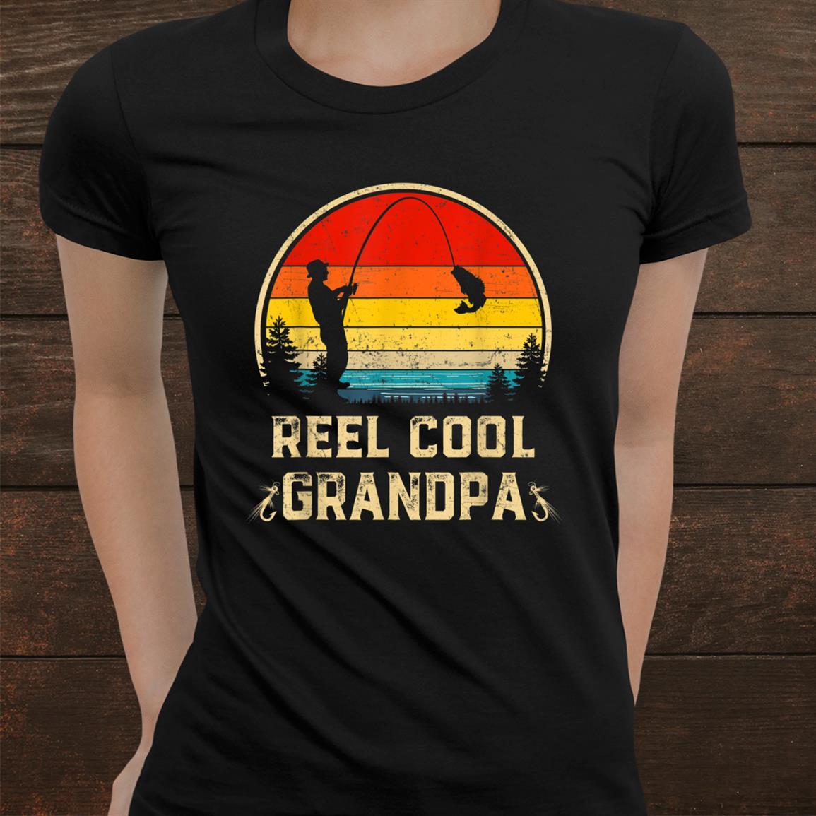 Reel Cool Grandpa Fish Fishing Vintage Shirt