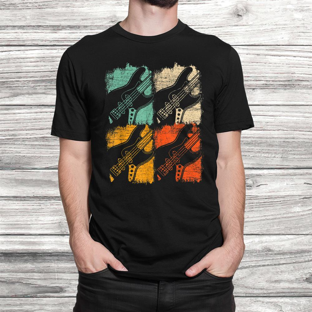 Retro Bass Guitar T Shirt