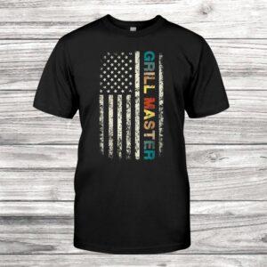 Retro Grill Master Chef Vintage Flag Shirt