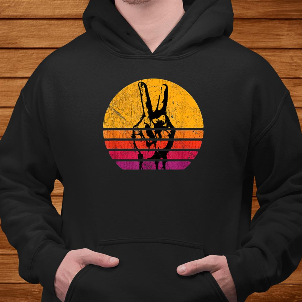 Retro Peace Shirt Love 60s 70s Hippie Inspired Shirt