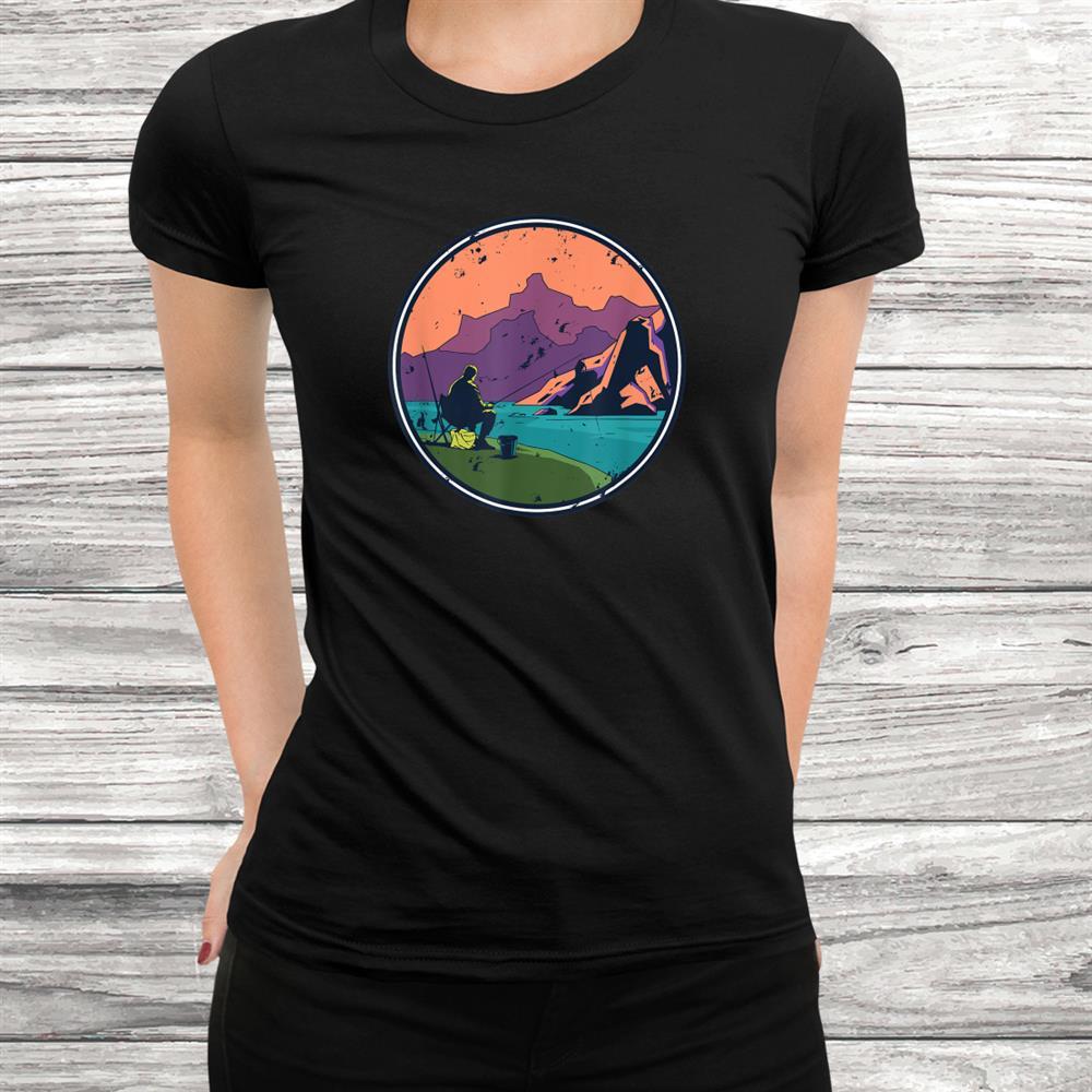Retro Vintage Fishing Hiking Camping Shirt