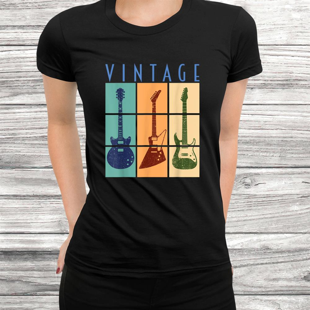 Retro Vintage Guitar Shirt Cool Classic Guitars Shirt