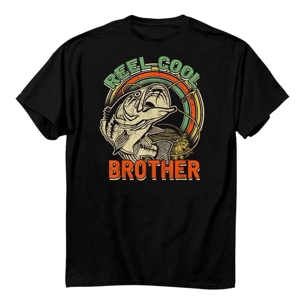 Retro Vintage Reel Cool Brother Funny Fishing Shirt