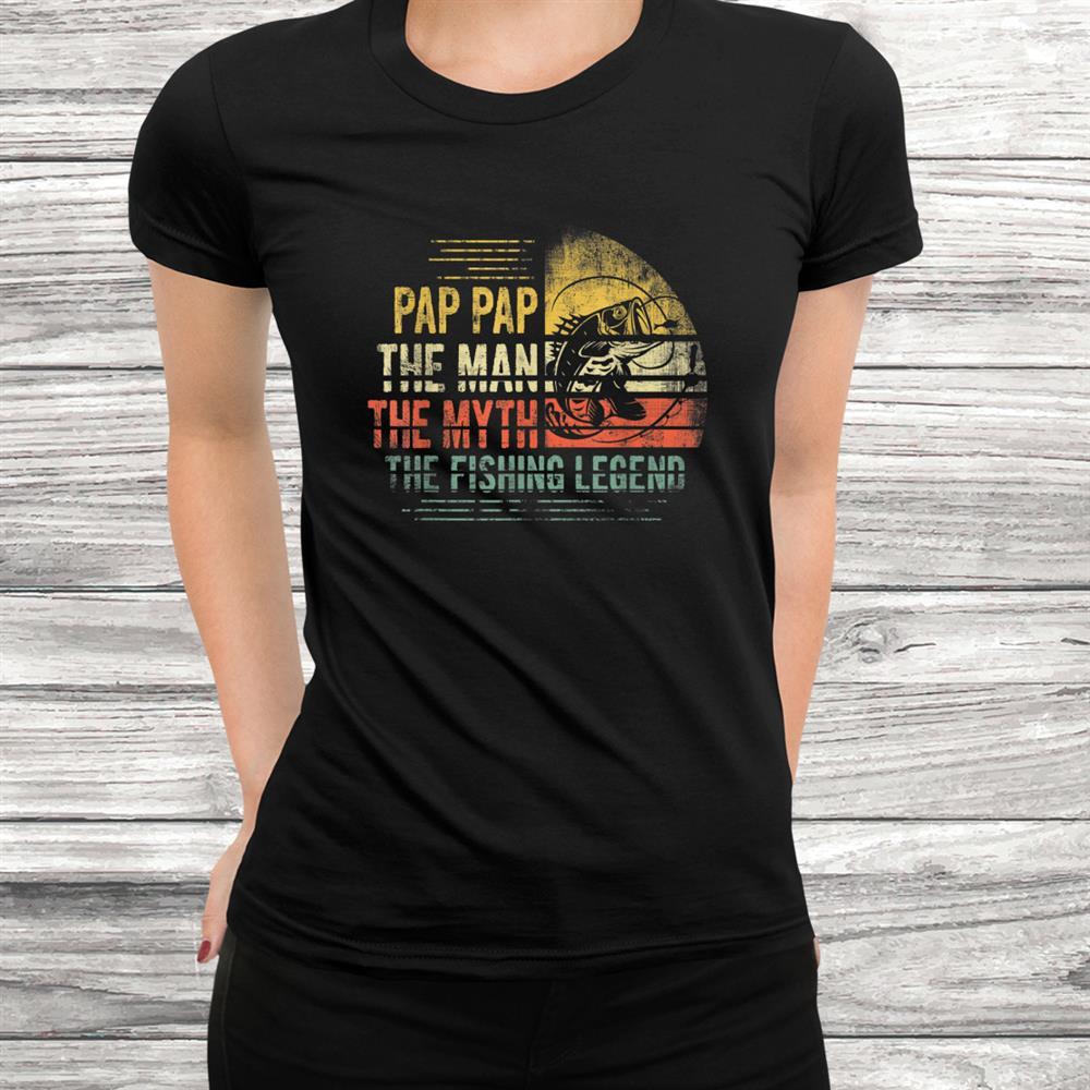 Retro Vintage Reel Cool Pap Pap Fishing Shirt
