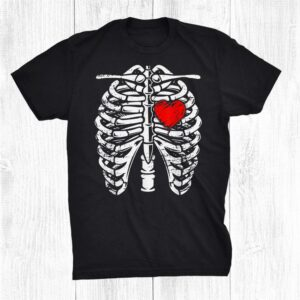 Rib Cage Heart Skeleton Anatomy X Ray Halloween Shirt