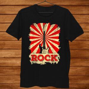 Rock Music Rock And Roll Guitar0s Shirt