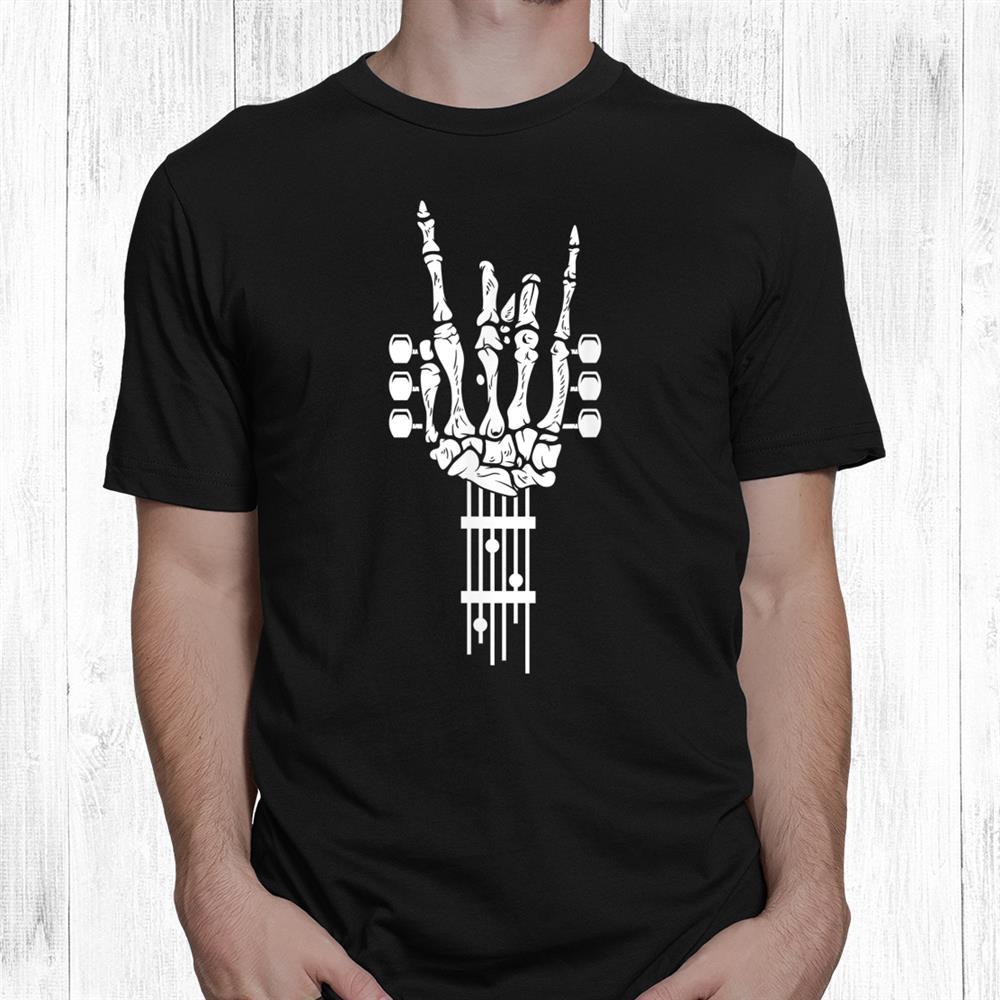 Rock Roll Skeleton Guitar Music Lover Shirt
