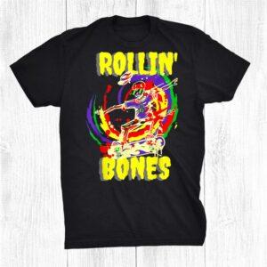 Rolling Bones Skeleton Playing Guitar Classic Rock Fan Shirt