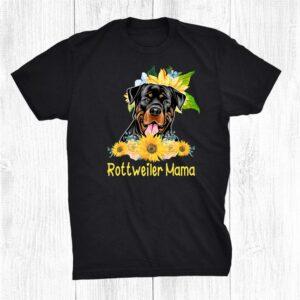 Rottweiler Mama Sunflower Rottweiler Lover Shirt