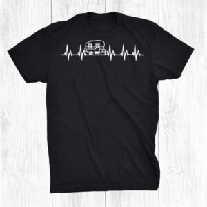 Rv Camper Heartbeat Camping Vacation Copy Shirt