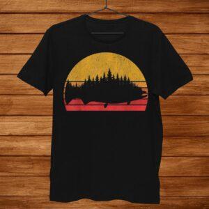 Salmon Fishing Retro Treeline King Salmon Fisherman Shirt